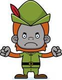 Cartoon Angry Robin Hood Orangutan Royalty Free Stock Images
