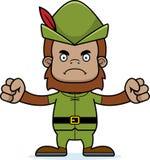 Cartoon Angry Robin Hood Sasquatch Royalty Free Stock Photo