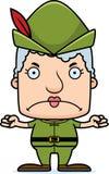 Cartoon Angry Robin Hood Woman Stock Images