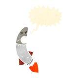 Cartoon angry rocket Royalty Free Stock Image