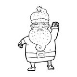 Cartoon angry santa claus Royalty Free Stock Photo