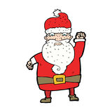 Cartoon angry santa claus Royalty Free Stock Images