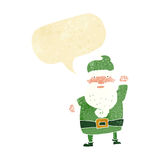 Cartoon angry santa claus with speech bubble Stock Photography