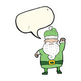 Cartoon angry santa claus with speech bubble Royalty Free Stock Images