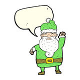 Cartoon angry santa claus with speech bubble Stock Photo