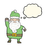 Cartoon angry santa claus with thought bubble Stock Photography