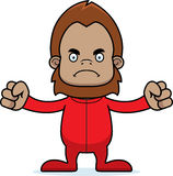 Cartoon Angry Sasquatch In Pajamas Royalty Free Stock Images
