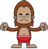 Cartoon Angry Sasquatch Swimsuit Royalty Free Stock Photo