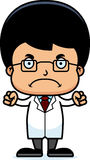 Cartoon Angry Scientist Boy Royalty Free Stock Image