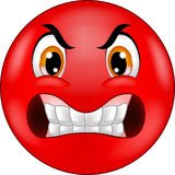 Cartoon Angry smiley emoticon Royalty Free Stock Images