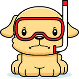 Cartoon Angry Snorkeler Puppy Royalty Free Stock Image