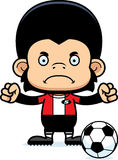 Cartoon Angry Soccer Player Chimpanzee Stock Image