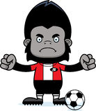 Cartoon Angry Soccer Player Gorilla Stock Images