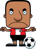 Cartoon Angry Soccer Player Man Stock Photo