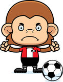 Cartoon Angry Soccer Player Monkey Royalty Free Stock Photo