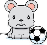Cartoon Angry Soccer Player Mouse Stock Images