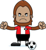 Cartoon Angry Soccer Player Sasquatch Royalty Free Stock Photos