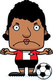 Cartoon Angry Soccer Player Woman Stock Photography