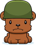 Cartoon Angry Soldier Bear Royalty Free Stock Photos