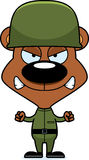 Cartoon Angry Soldier Bear Stock Photography