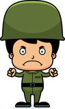 Cartoon Angry Soldier Boy Royalty Free Stock Image