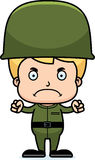Cartoon Angry Soldier Boy Royalty Free Stock Images