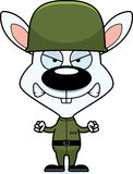 Cartoon Angry Soldier Bunny Royalty Free Stock Photos