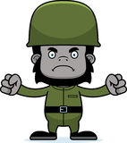 Cartoon Angry Soldier Gorilla Stock Photo