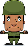 Cartoon Angry Soldier Man Stock Image