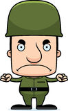 Cartoon Angry Soldier Man Stock Photo