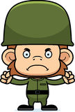 Cartoon Angry Soldier Monkey Royalty Free Stock Photography