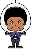 Cartoon Angry Spaceman Boy Royalty Free Stock Photos