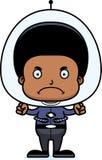 Cartoon Angry Spaceman Boy Royalty Free Stock Photos