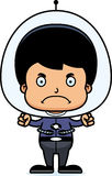 Cartoon Angry Spaceman Boy Royalty Free Stock Images
