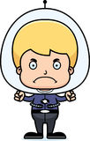 Cartoon Angry Spaceman Boy Royalty Free Stock Photography