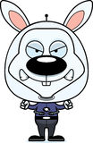 Cartoon Angry Spaceman Bunny Stock Images