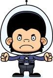 Cartoon Angry Spaceman Chimpanzee Royalty Free Stock Photos