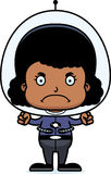 Cartoon Angry Spaceman Girl Royalty Free Stock Photos