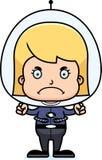 Cartoon Angry Spaceman Girl Stock Photo