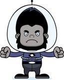 Cartoon Angry Spaceman Gorilla Stock Photo