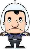 Cartoon Angry Spaceman Man Stock Photography