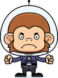 Cartoon Angry Spaceman Monkey Royalty Free Stock Image