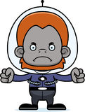 Cartoon Angry Spaceman Orangutan Royalty Free Stock Images