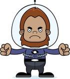 Cartoon Angry Spaceman Sasquatch Royalty Free Stock Image