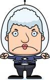 Cartoon Angry Spaceman Woman Stock Image