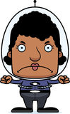Cartoon Angry Spaceman Woman Royalty Free Stock Photo