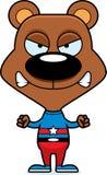 Cartoon Angry Superhero Bear Royalty Free Stock Images