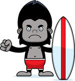 Cartoon Angry Surfer Gorilla Stock Photography