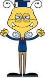 Cartoon Angry Teacher Bee Royalty Free Stock Photo