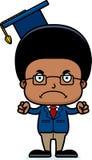 Cartoon Angry Teacher Boy Royalty Free Stock Photography